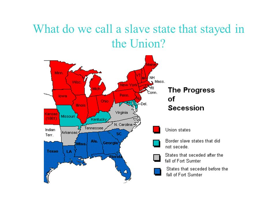 What do we call a slave state that stayed in the Union?