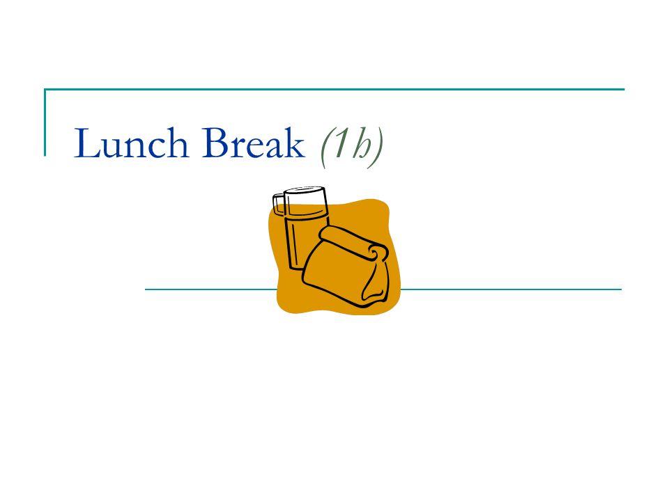 Lunch Break (1h)