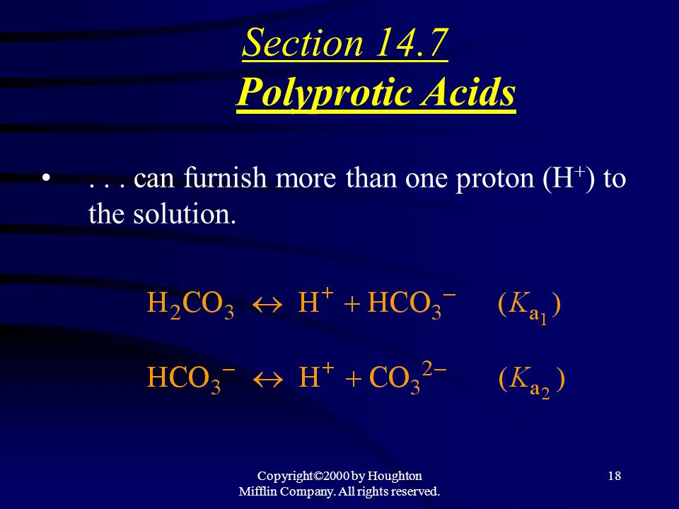 Copyright©2000 by Houghton Mifflin Company. All rights reserved. 17 Lets do # 83, 85a, 89b & 91 together!!! Calculate the pH of solutions of Weak Base