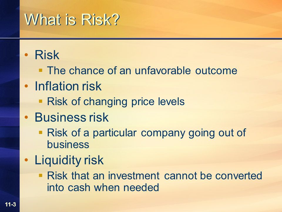 11-3 What is Risk.