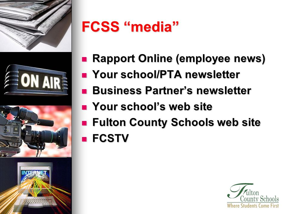 Rapport Online (employee news) Rapport Online (employee news) Your school/PTA newsletter Your school/PTA newsletter Business Partners newsletter Busin