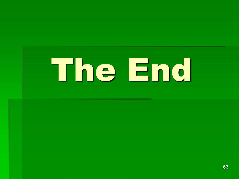 The End 63