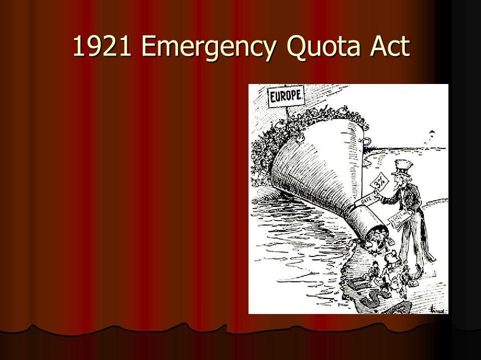 1921 Emergency Quota Act