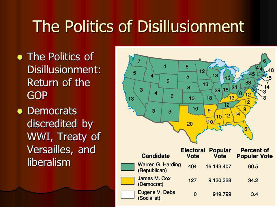 The Politics of Disillusionment The Politics of Disillusionment: Return of the GOP The Politics of Disillusionment: Return of the GOP Democrats discre