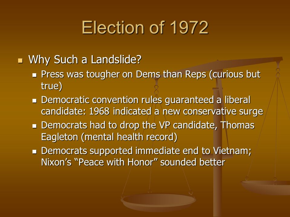 Why Such a Landslide? Why Such a Landslide? Press was tougher on Dems than Reps (curious but true) Press was tougher on Dems than Reps (curious but tr