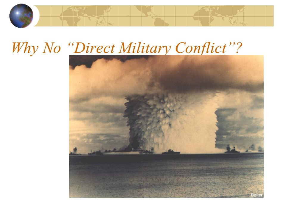 Why No Direct Military Conflict