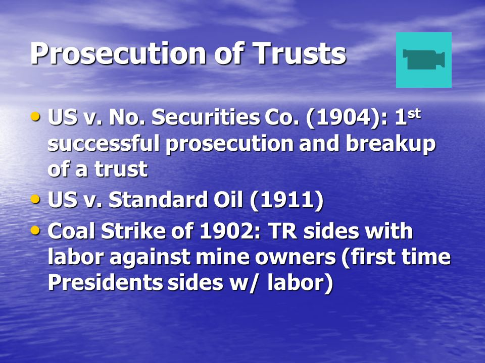 Prosecution of Trusts US v. No. Securities Co.