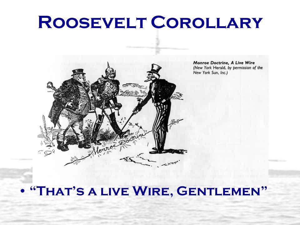 Roosevelt Corollary Thats a live Wire, Gentlemen