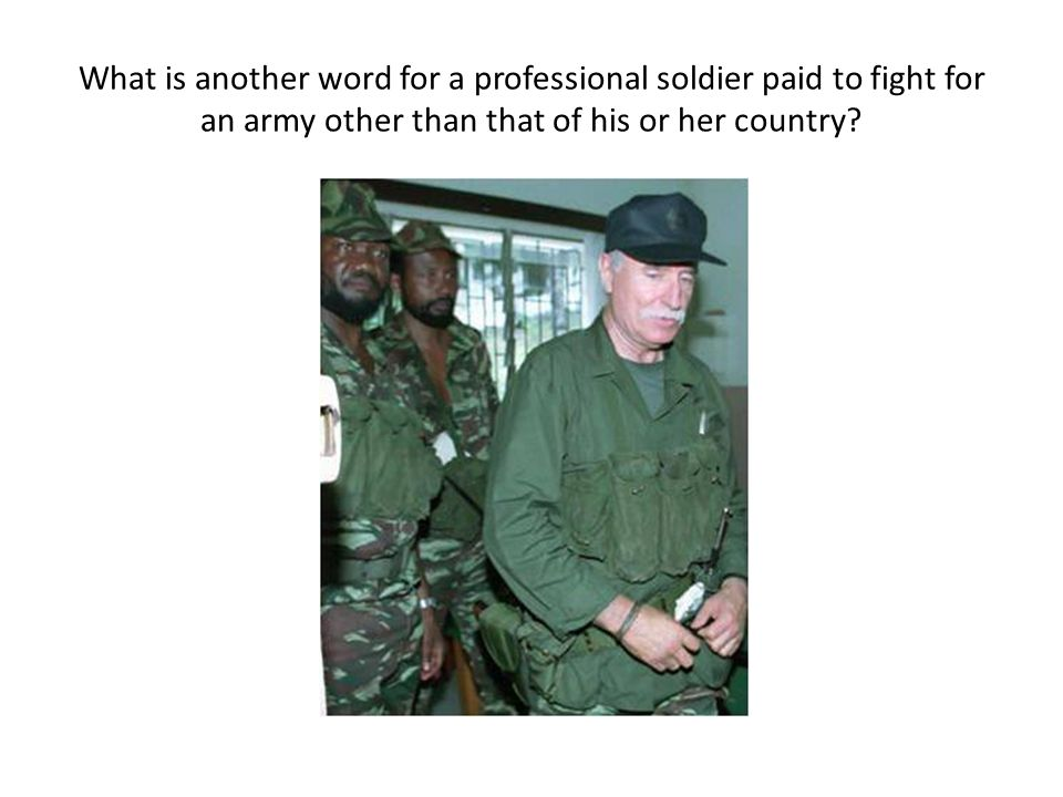 What is another word for a professional soldier paid to fight for an army other than that of his or her country?