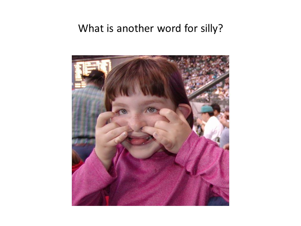 What is another word for silly?