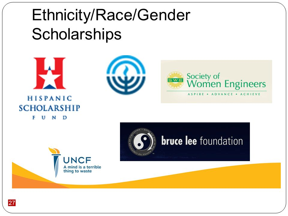 27 Ethnicity/Race/Gender Scholarships