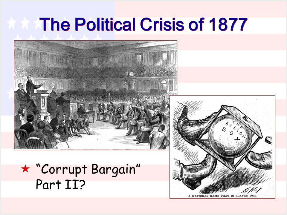 The Political Crisis of 1877 Corrupt Bargain Part II