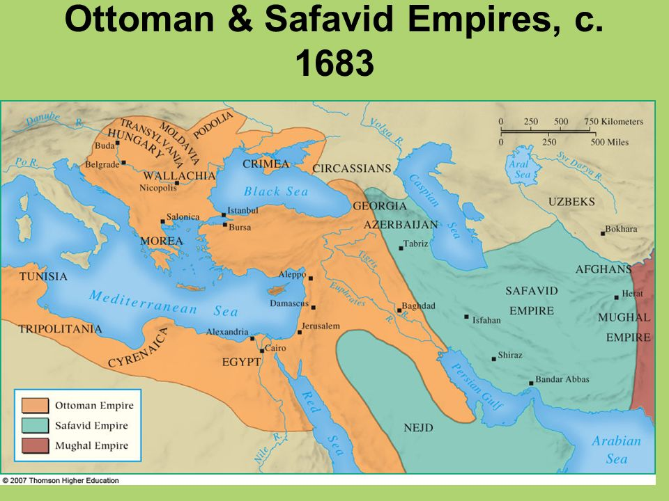 Ottoman & Safavid Empires, c. 1683
