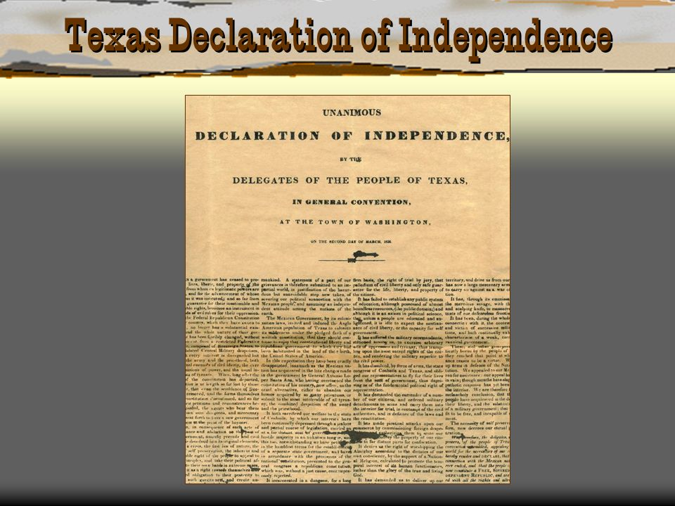 Texas Declaration of Independence