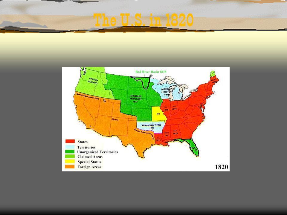 The U.S. in 1820