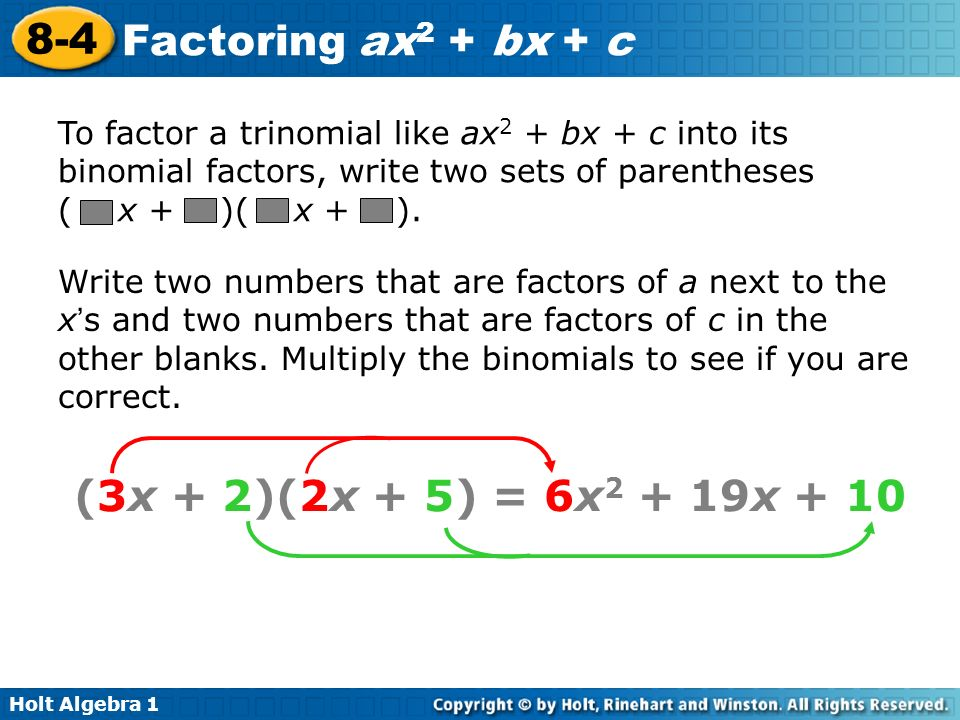 Worksheets Factoring Ax2 Bx C Worksheet factoring trinomials ax2 bx c worksheet answers davezan 8 6 practice intrepidpath