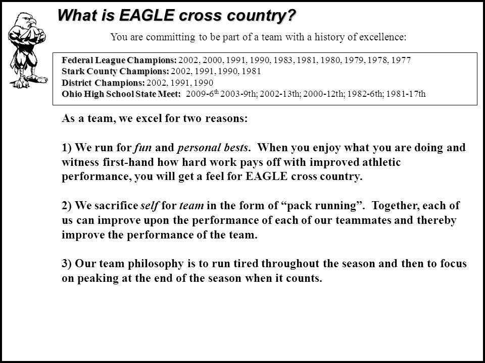What is EAGLE cross country.