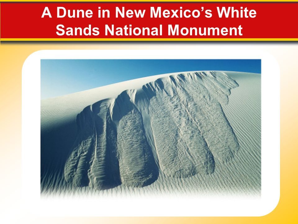 A Dune in New Mexicos White Sands National Monument
