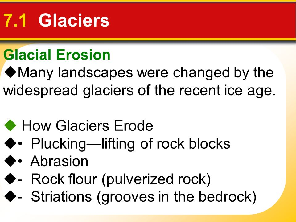 Erosional Landforms Caused by Valley Glaciers Landforms Created by Glacial Erosion