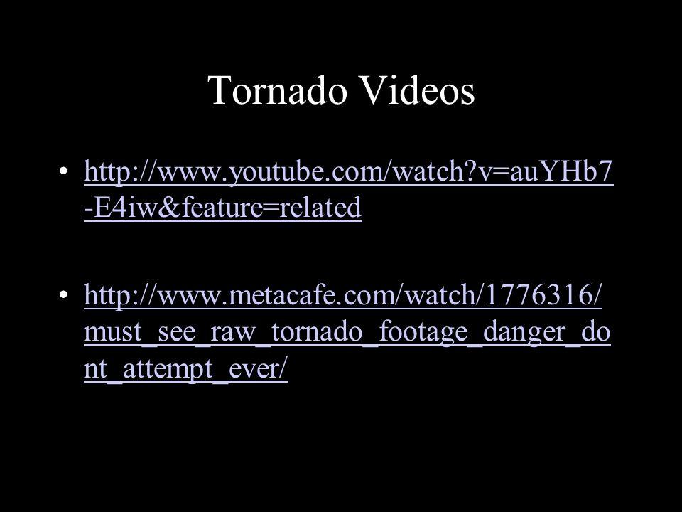 Tornado Videos http://www.youtube.com/watch?v=auYHb7 -E4iw&feature=relatedhttp://www.youtube.com/watch?v=auYHb7 -E4iw&feature=related http://www.metac