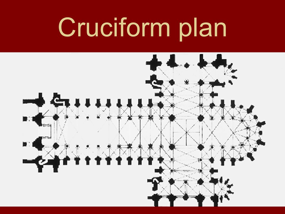 Cruciform plan