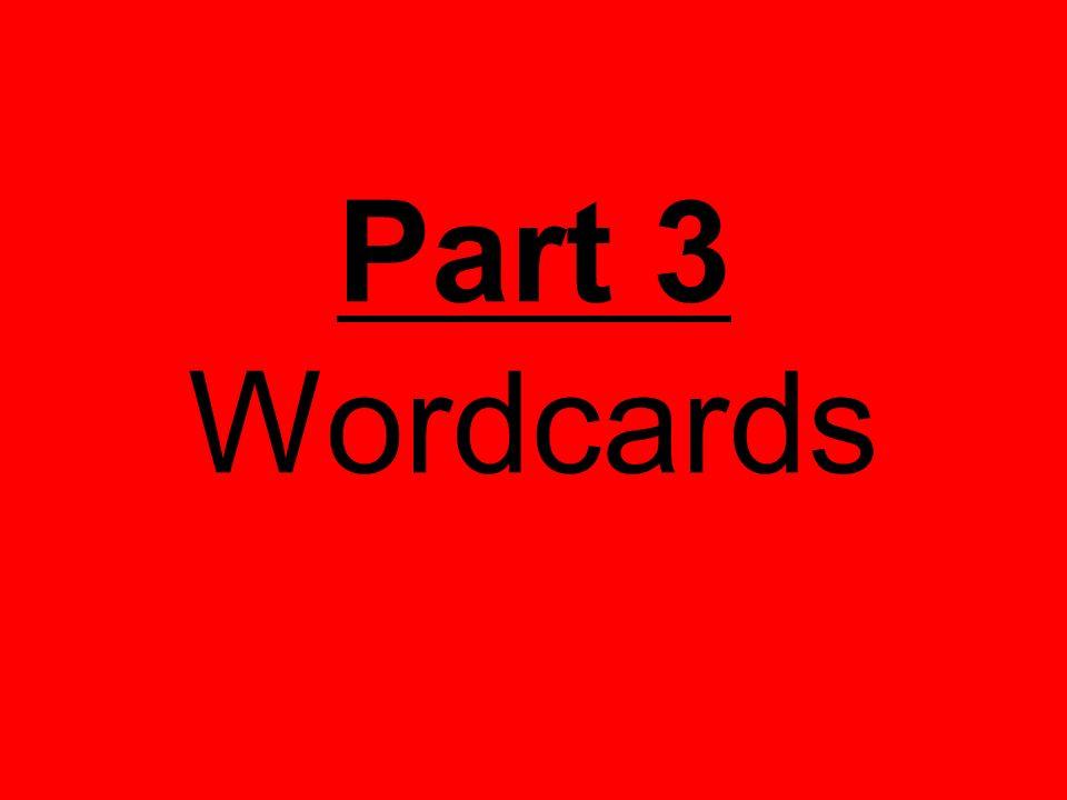 Part 3 Wordcards