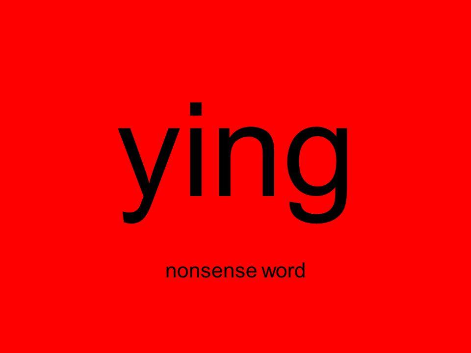 ying nonsense word