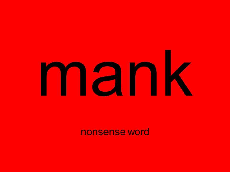 mank nonsense word