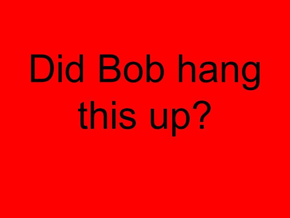 Did Bob hang this up?