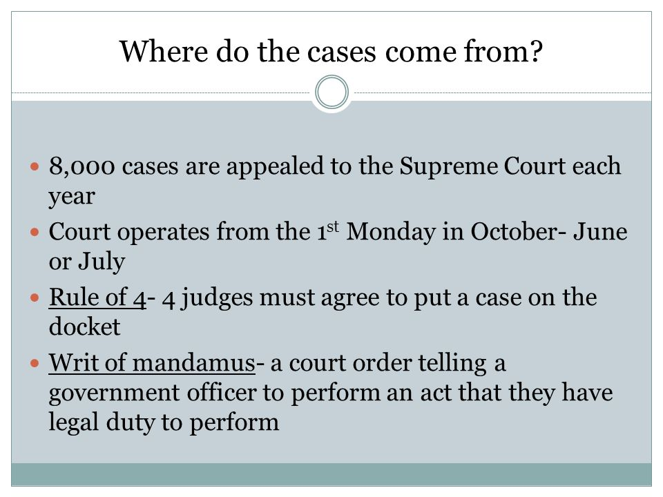 How does a case get to the Supreme Court.
