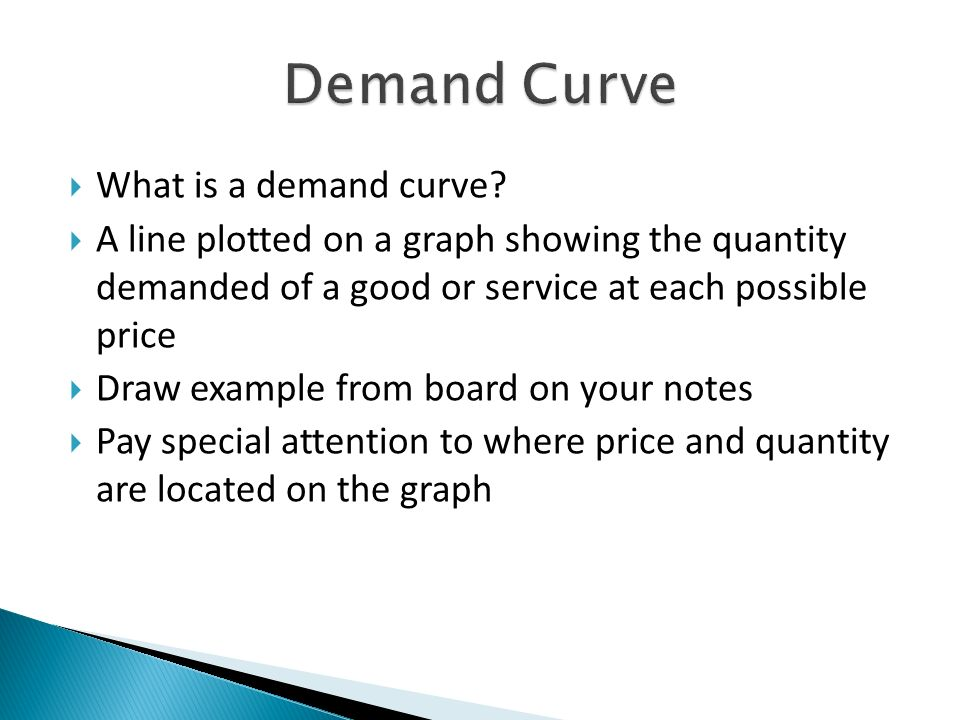 What is a demand curve.