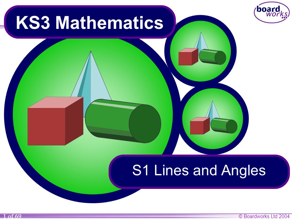 © Boardworks Ltd 2004 1 of 69 KS3 Mathematics S1 Lines and Angles