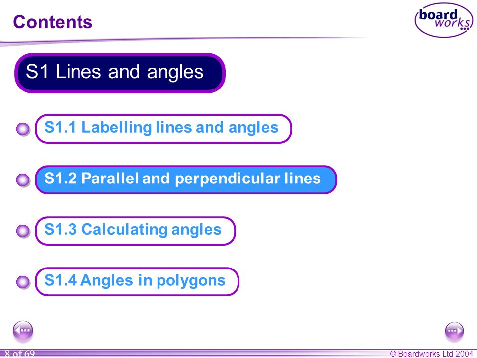 © Boardworks Ltd 2004 39 of 69 Calculating angles Calculate the size of angle a.