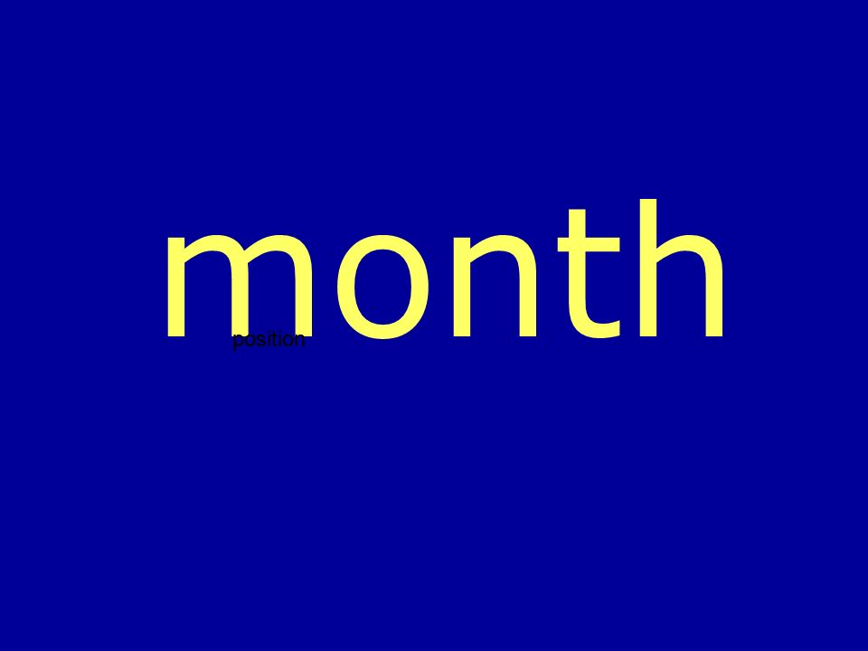 month position