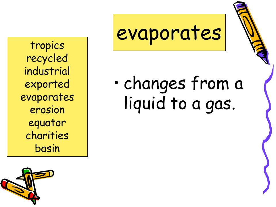 changes from a liquid to a gas.