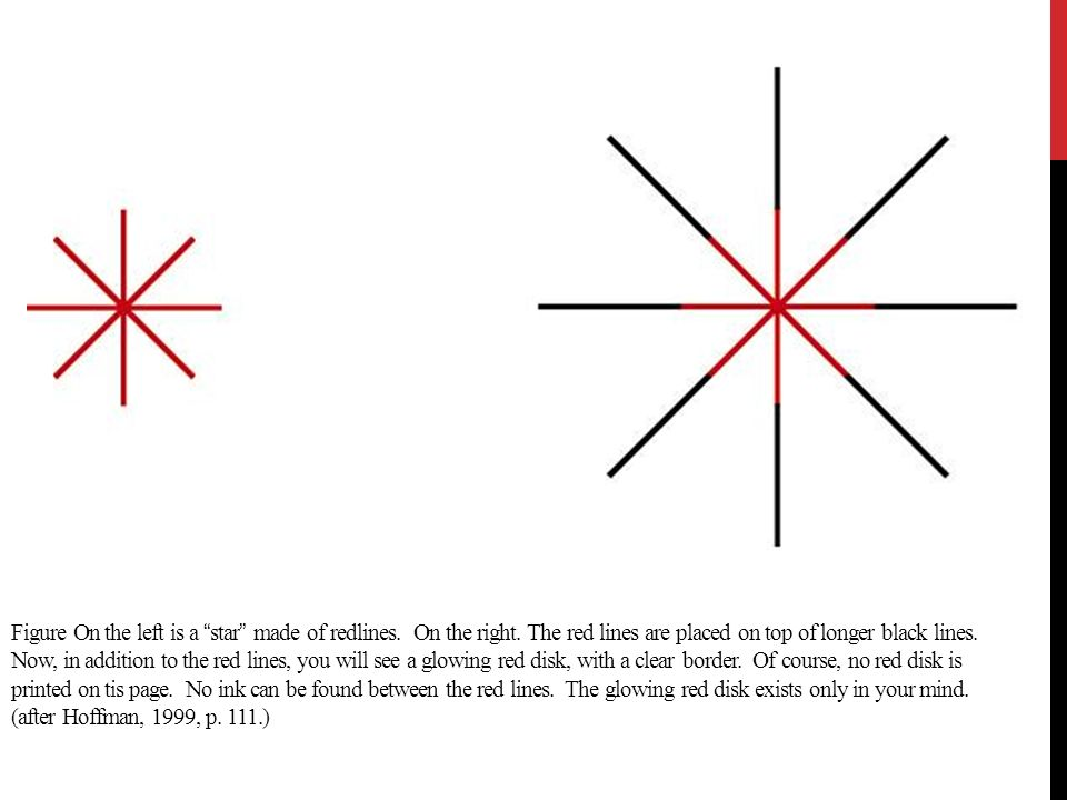 Figure On the left is a star made of redlines. On the right. The red lines are placed on top of longer black lines. Now, in addition to the red lines,