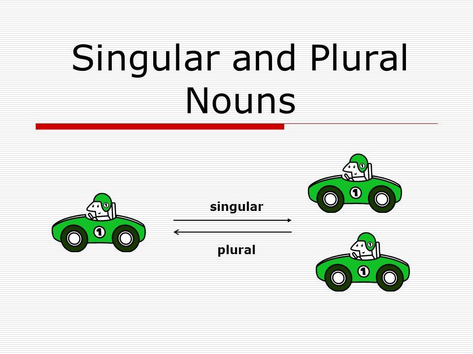 Singular and Plural Nouns singular plural