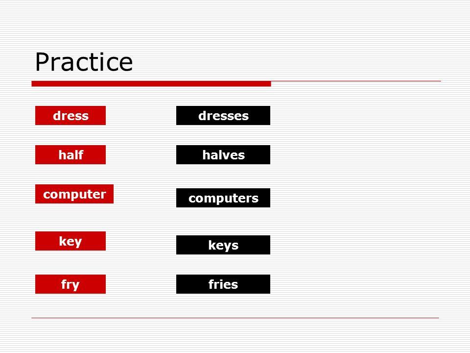 Practice dress half computer key dresses halves computers keys fryfries