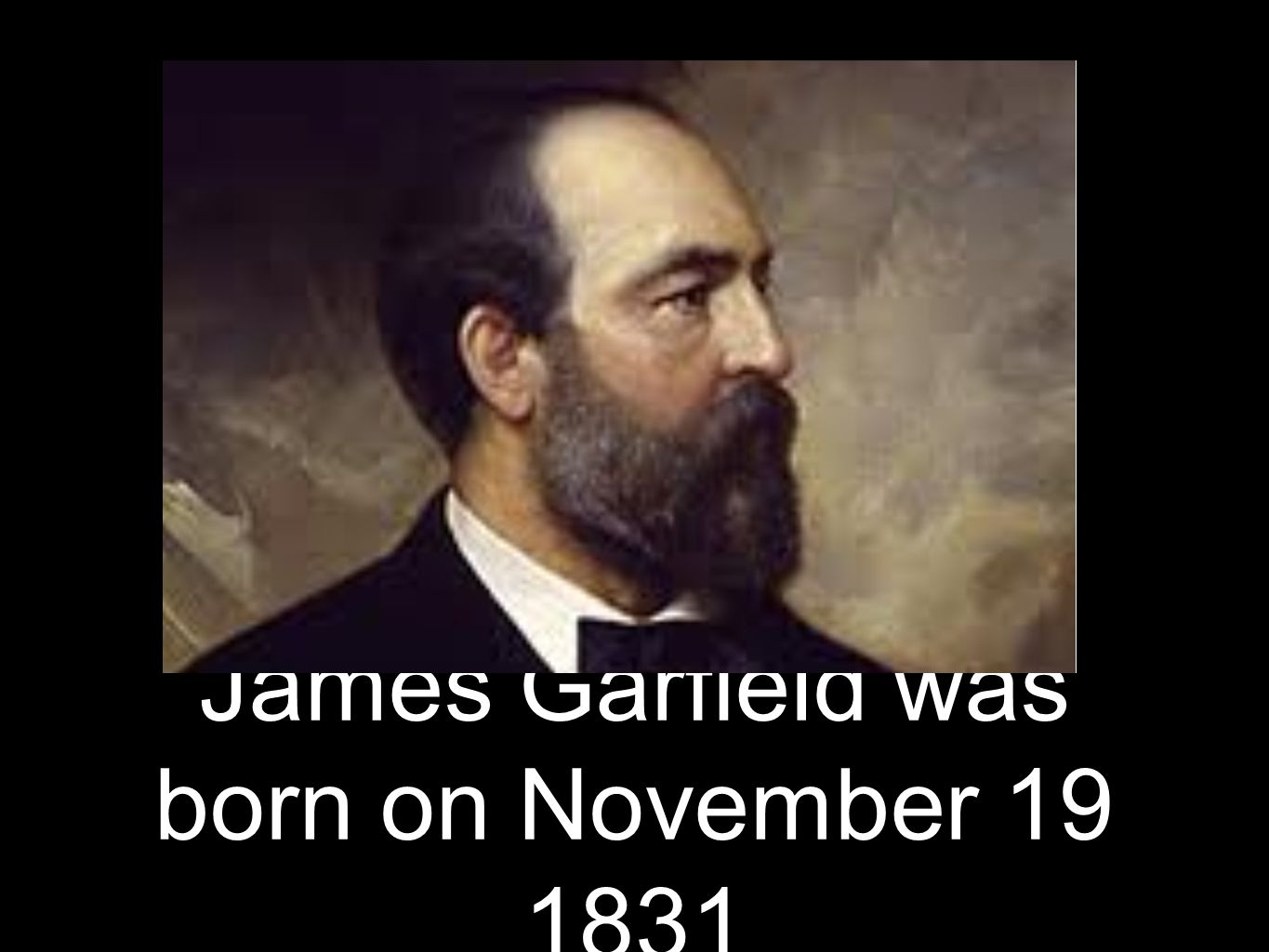 James Garfield was born on November 19 1831