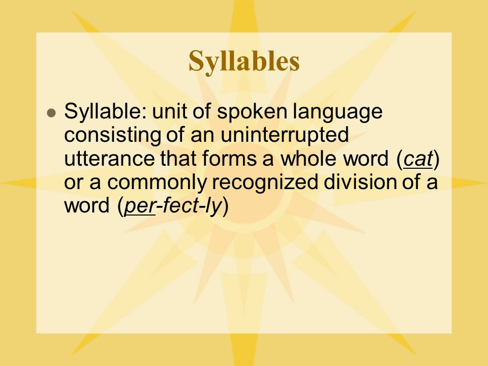 How many syllables.