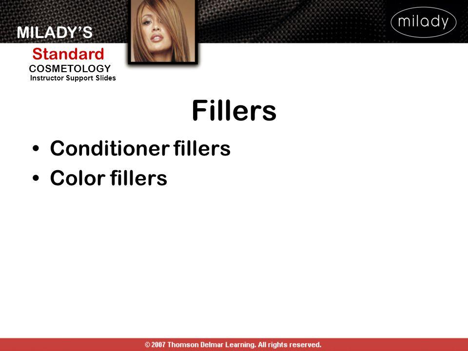 MILADYS Standard Instructor Support Slides COSMETOLOGY Fillers Conditioner fillers Color fillers