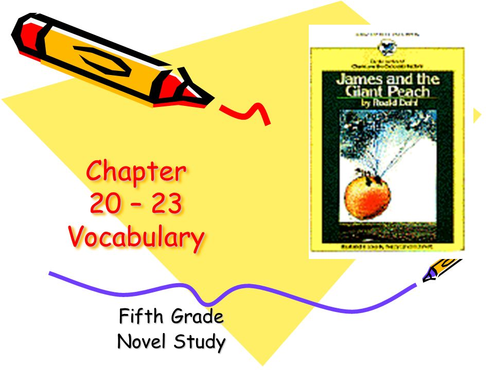 James and The Giant Peach Vocabulary Fifth Grade Novel Study