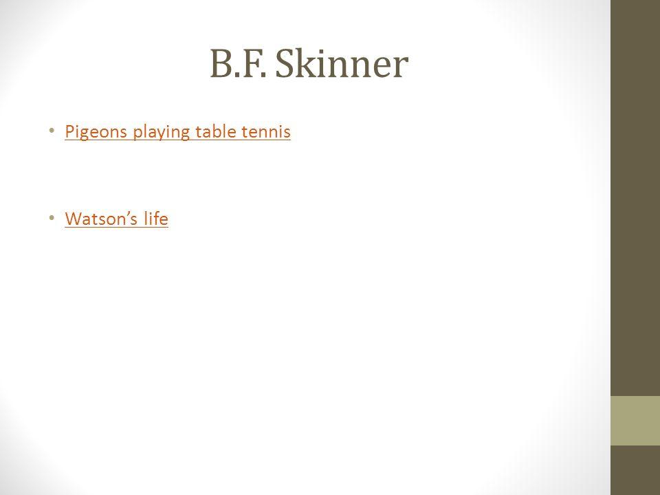 B.F. Skinner Pigeons playing table tennis Watsons life Watsons life