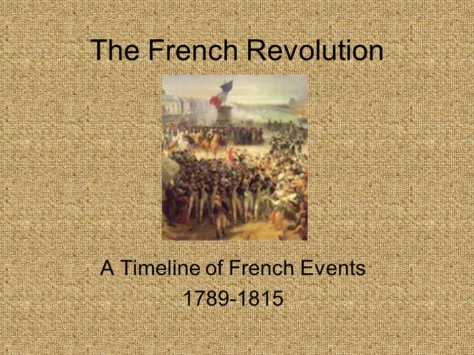The French Revolution A Timeline of French Events 1789-1815