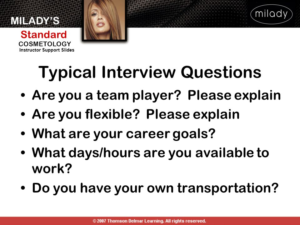 MILADYS Standard Instructor Support Slides COSMETOLOGY Are you a team player.