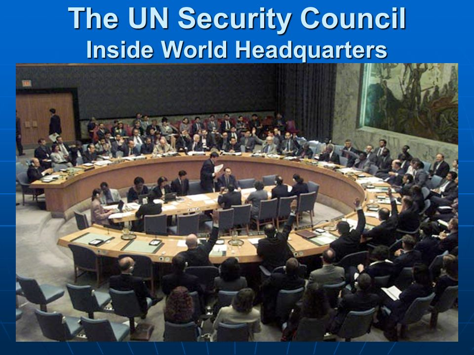 The UN Security Council Inside World Headquarters