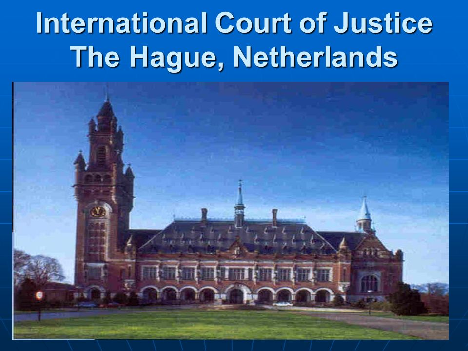 International Court of Justice The Hague, Netherlands
