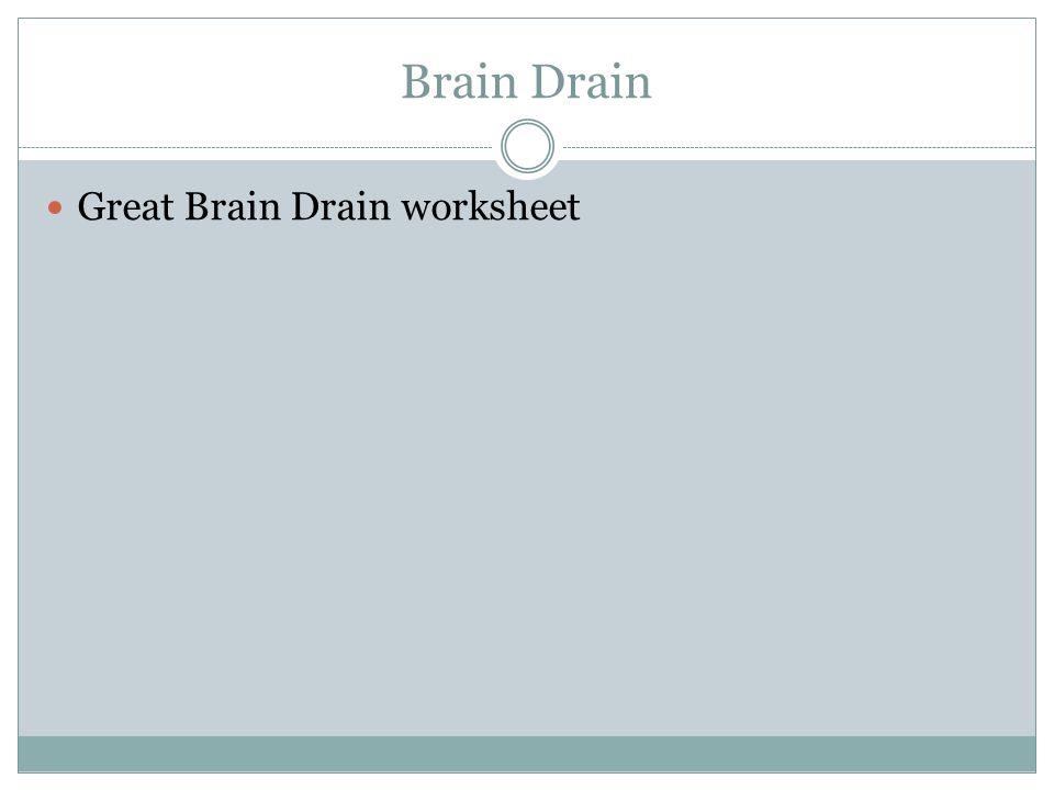 Brain Drain Great Brain Drain worksheet