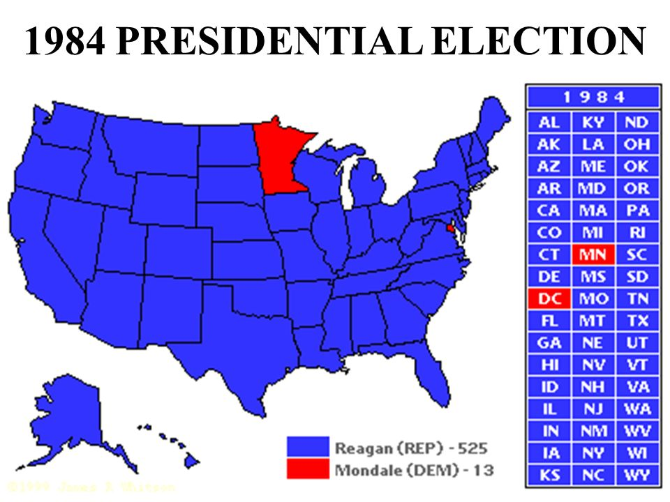 1984 PRESIDENTIAL ELECTION