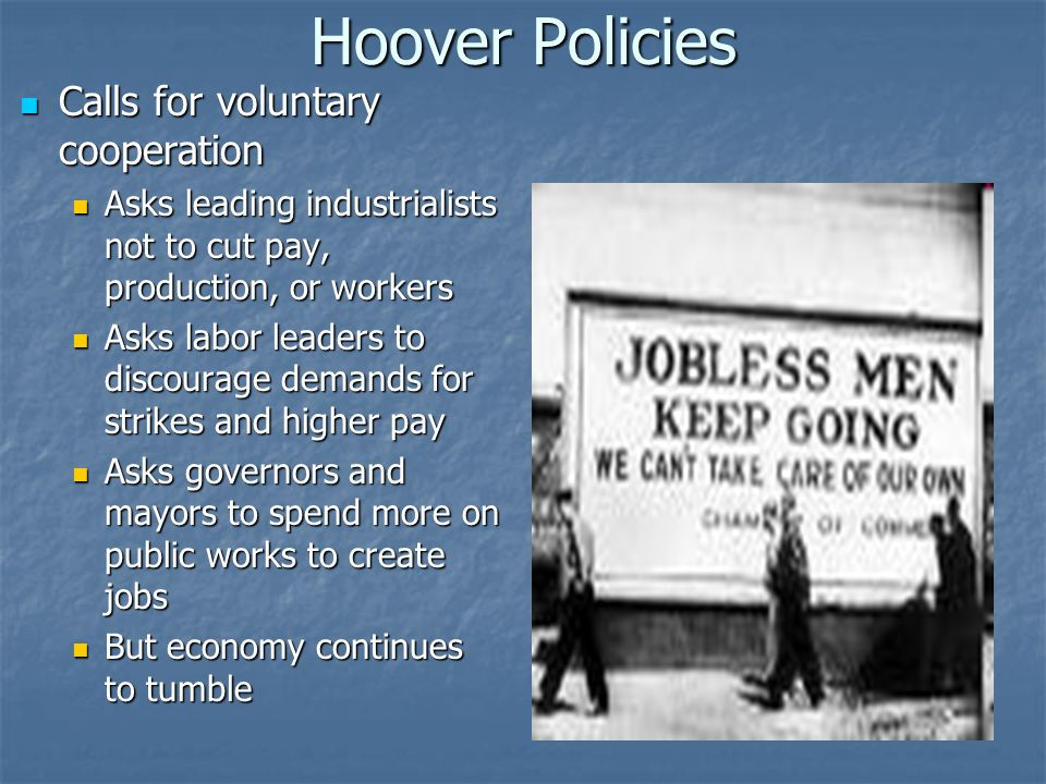 Hoover Optimistic: prosperity just around the corner Optimistic: prosperity just around the corner